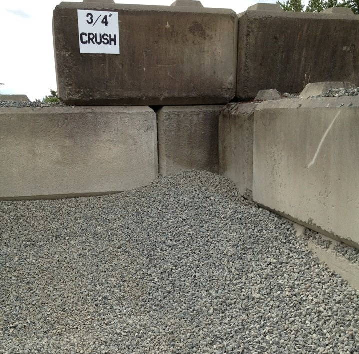 3 4 Quot Crushed Stone : Crushed clear gravel