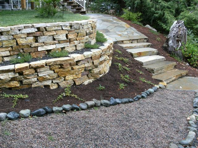 how to build a garden dry stone wall