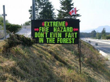 Hillside sign on Trans Canada Hwy in Duncan