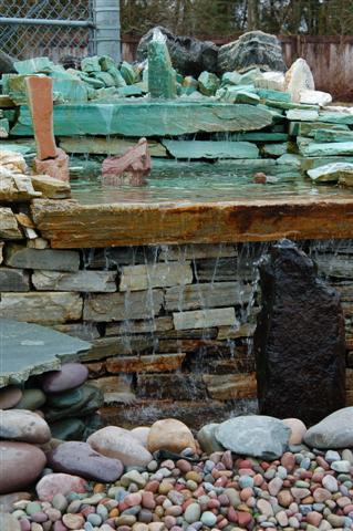 Our Hillside Stone & Garden small pond display